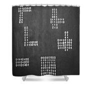 Hamlet - Binary Painting By Marianna Mills Shower Curtain