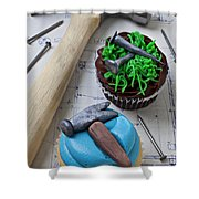 Hammer Cupcake Shower Curtain
