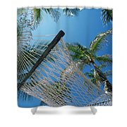 Hammock And Palm Tree, Great Barrier Shower Curtain