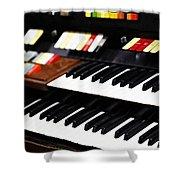 Hammond Electric Organ Shower Curtain