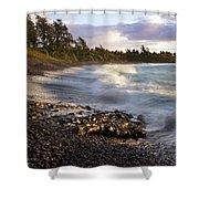 Hana Beach And Wave Shower Curtain
