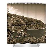 Hana Highway Sepia Shower Curtain