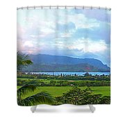 Hanalei Panorama Kauai Shower Curtain