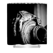 Hand And Vessel Shower Curtain