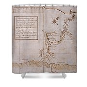 Hand Drawn Map By G. Washington Shower Curtain