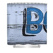 Hand Painted Old Bones Sign Shower Curtain