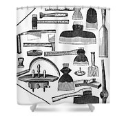 Hand Tools, 1876 Shower Curtain