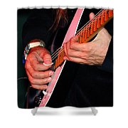 Sun In The Hands And Guitar Of Uli Jon Roth Shower Curtain