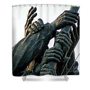 Hands Of Iwo Jima Shower Curtain