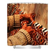 Hands Of The Carpet Weaver Shower Curtain