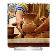 Hands Of The Potter Shower Curtain