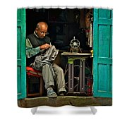 Handsewn With Care Shower Curtain