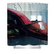 Handsome Shoes With Fresh Eggs In The Middle Plateu Shower Curtain