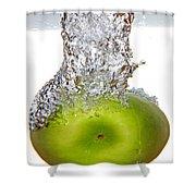 Handy Green Apple Shower Curtain