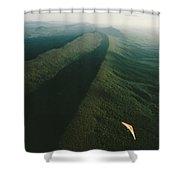 Hang Glider Over Massanutten Mountain Shower Curtain