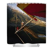 Hang Glider Over Telluride, Colorado Shower Curtain