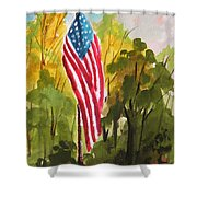 Hanging Gracefully Shower Curtain