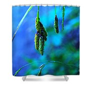 Hanging Green  Shower Curtain