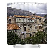 Hanging Out To Dry In Dubrovnik 1 Shower Curtain