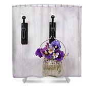 Hanging Pansies Shower Curtain