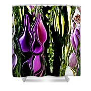 Hanging Vine From Photo Of Digitalis 1 Per Gimp Shower Curtain