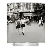 Hanoi Girls Shower Curtain