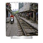 Hanoi Train Tracks Shower Curtain