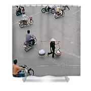 Hanoi Woman Shower Curtain