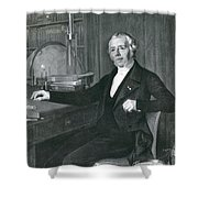 Hans Christian �rsted, Danish Physicist Shower Curtain