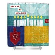 Hanukkah Miracles Shower Curtain