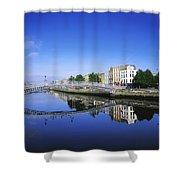Hapenny Bridge, River Liffey, Dublin Shower Curtain