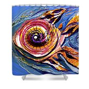Happified Swirl Fish Shower Curtain