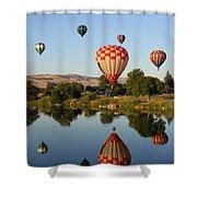 Happy Balloon Day Shower Curtain