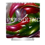 Happy Birthday - Balloons Shower Curtain by Kaye Menner