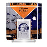 Happy Days And Lonely Nights Shower Curtain by Mel Thompson