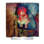 Happy Dolly Shower Curtain