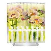 Happy Flower Faces Shower Curtain