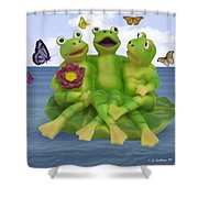 Happy Frogs Shower Curtain
