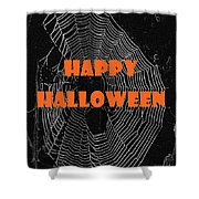 Happy Halloween Web  Shower Curtain