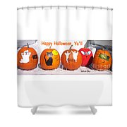 Happy Halloween  Yall Shower Curtain