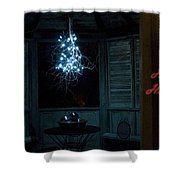 Happy Holiday Lights Shower Curtain
