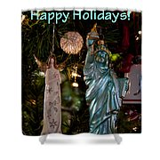 Happy Holidays To All My Friends On Fine Art America Shower Curtain