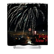 Happy New Year Card Shower Curtain