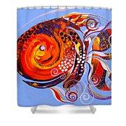 Happy Rainbow Fish Shower Curtain
