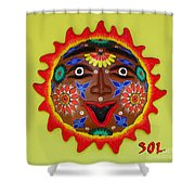 Happy Sol Face Shower Curtain