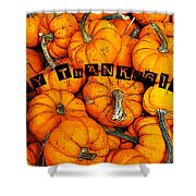 Happy Thanksgiving Art Shower Curtain