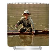 Happy To See You Shower Curtain by Bob Christopher