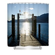 Harbor And Sun Shower Curtain