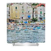 Harbor At Isle Of Capri Shower Curtain