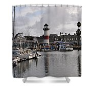 Harbor Lighthouse Shower Curtain